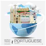 Portuguese Republic Landmark Global Travel And Journey Infograph Stock Photography