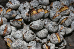 Portuguese roasted chestnuts Stock Photos
