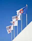Portuguese Royal Flags Stock Images