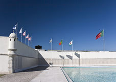 Portuguese Royal Flags Royalty Free Stock Photo