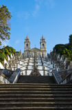 Portuguese sanctuary Bom Jesus do Monte Royalty Free Stock Image