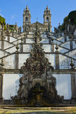 Portuguese sanctuary Bom Jesus do Monte Royalty Free Stock Photo