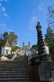 Portuguese sanctuary Bom Jesus do Monte Royalty Free Stock Images