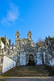 Portuguese sanctuary Bom Jesus do Monte Royalty Free Stock Photography