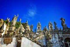 Portuguese sanctuary Bom Jesus do Monte Stock Images