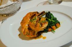 Portuguese shrimp piri piri Stock Photo