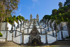 Portuguese Shrine of Good Jesus of the Mountain Stock Photography