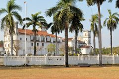 Portuguese St. Catherine Cathedral, Old Goa, India Royalty Free Stock Photos