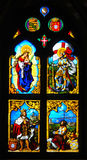 Portuguese Stain glass window depicting Vasco da Gama. Stock Photography