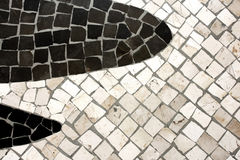 Portuguese Stepped. Black and white Portuguese Stepped Royalty Free Stock Photos