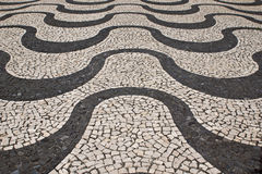Portuguese stone pattern Stock Photo