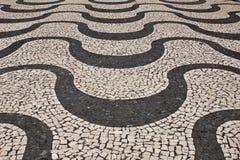 Portuguese stone pattern Royalty Free Stock Image