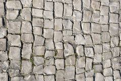Portuguese Stone-Paved. Background with Portuguese traditional stone-paved Stock Image