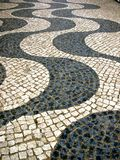 Portuguese street. Street with typically Portuguese sidewalk Stock Photo