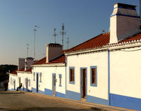 Portuguese Street (a). Portuguese street of houses in a small rural village Stock Images