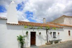 Portuguese street in Alentejo. Colorful portuguese street in Alentejo region, Portugal stock photos