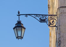Typical portuguese street lamp Royalty Free Stock Photography