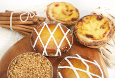Portuguese tarts Royalty Free Stock Images