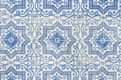 Portuguese tile house wall. Background texture close up Royalty Free Stock Photo