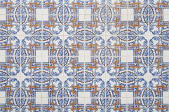 Portuguese tile house wall. Background texture close up Royalty Free Stock Images