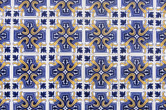 Portuguese tile house wall. Background texture close up Stock Photo
