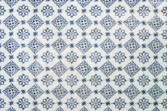 Portuguese tile house wall. Background texture close up Royalty Free Stock Photography