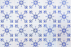 Portuguese tile house wall Royalty Free Stock Photos