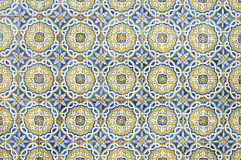 Portuguese tile house wall Royalty Free Stock Photo