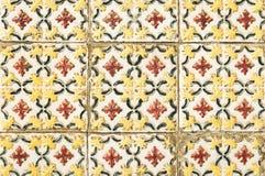 Portuguese tile house wall Stock Photos