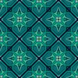 Portuguese tile pattern vector seamless with old ornaments. stock illustration