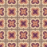 Portuguese tile pattern vector seamless with old ornaments. Mexican talavera, italian sicily, majolica, spanish ceramic. Perfect for fabrics, promotional stock illustration