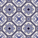 Portuguese tile vector pattern royalty free illustration