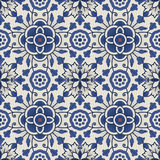 Portuguese tile vector pattern. Portuguese style vector pattern texture Stock Photos