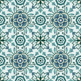 Portuguese tile vector pattern. Portuguese style vector pattern texture Royalty Free Stock Images