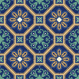 Portuguese tile vector pattern. Portuguese style vector pattern texture Royalty Free Stock Photography