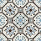 Portuguese tile vector pattern. Portuguese style vector pattern texture Stock Image