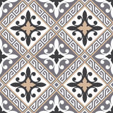 Portuguese tile vector pattern. Portuguese style vector pattern texture Royalty Free Stock Photos