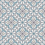 Portuguese tile vector pattern. Portuguese style vector pattern texture Royalty Free Stock Image