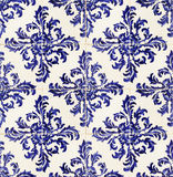 Portuguese tiles. Vintage portuguese blue tiles background Royalty Free Stock Photo