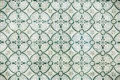 Portuguese Tiles. Artistic pattern of  worn Portuguese tiles Stock Photo