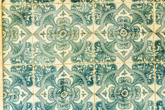 Portuguese Tiles. Artistic pattern of  worn Portuguese tiles Royalty Free Stock Photos