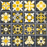 Portuguese tiles. background. Mediterranean style. Multicolor design. vector illustration