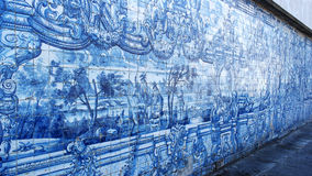 Portuguese Tiles, Cathedral of Porto, Porto, Portugal Stock Photo