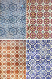 Portuguese tiles from Lisbon Stock Images