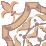 Portuguese tiles pattern. Vintage background - Victorian ceramic royalty free illustration