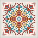 Portuguese tiles pattern. Vintage background - Victorian ceramic. Tile in vector Royalty Free Stock Photo