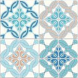 Portuguese tiles, Quatrefoil pattern. Tangled modern pattern, based on traditional oriental arabic patterns - arabesque. Seamless background. Moroccan, Turkish vector illustration