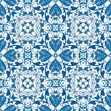 Portuguese tiles. Seamless pattern illustration in blue - like Portuguese tiles royalty free illustration
