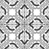 Portuguese tiles. Seamless pattern illustration in traditional style - inspired by Portuguese tiles royalty free illustration