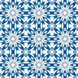 Portuguese tiles. Seamless pattern illustration in traditional style - like Portuguese tiles Stock Photo